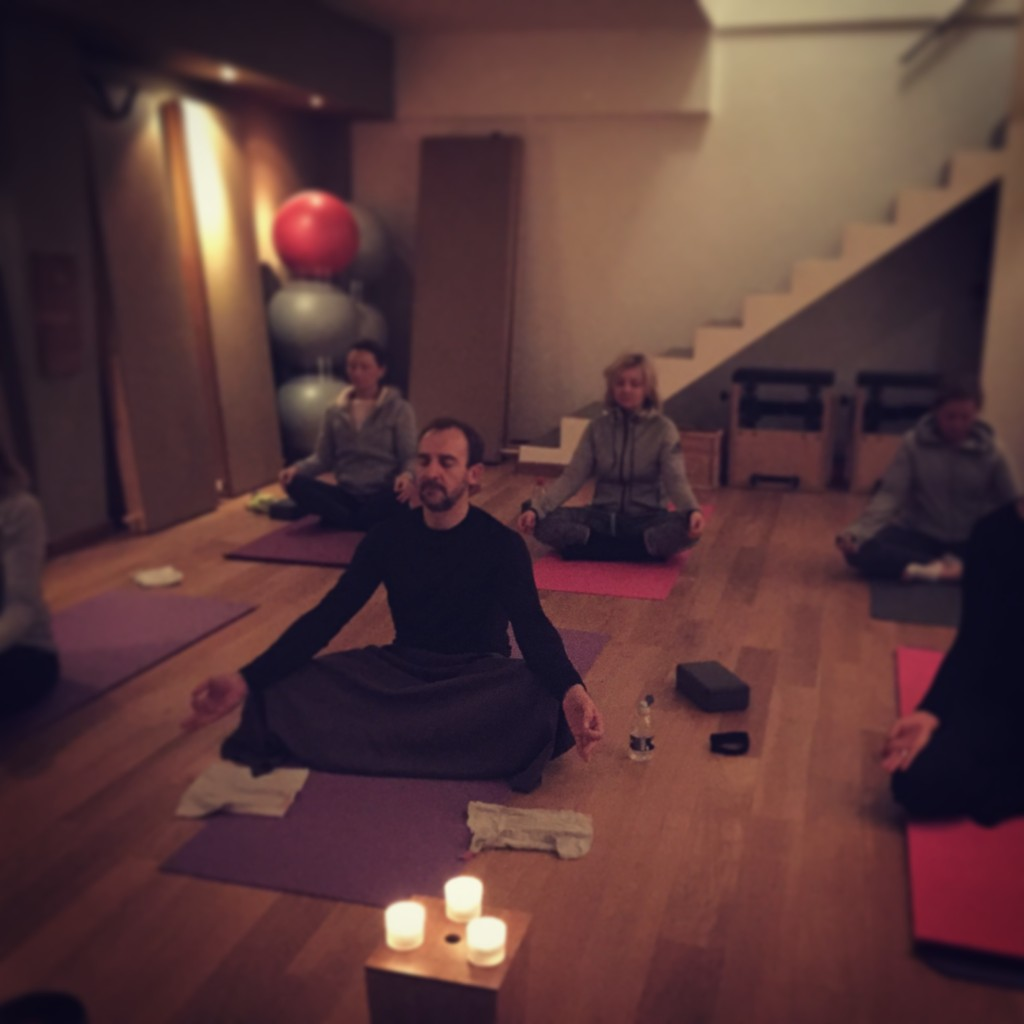 yoga class and meditation