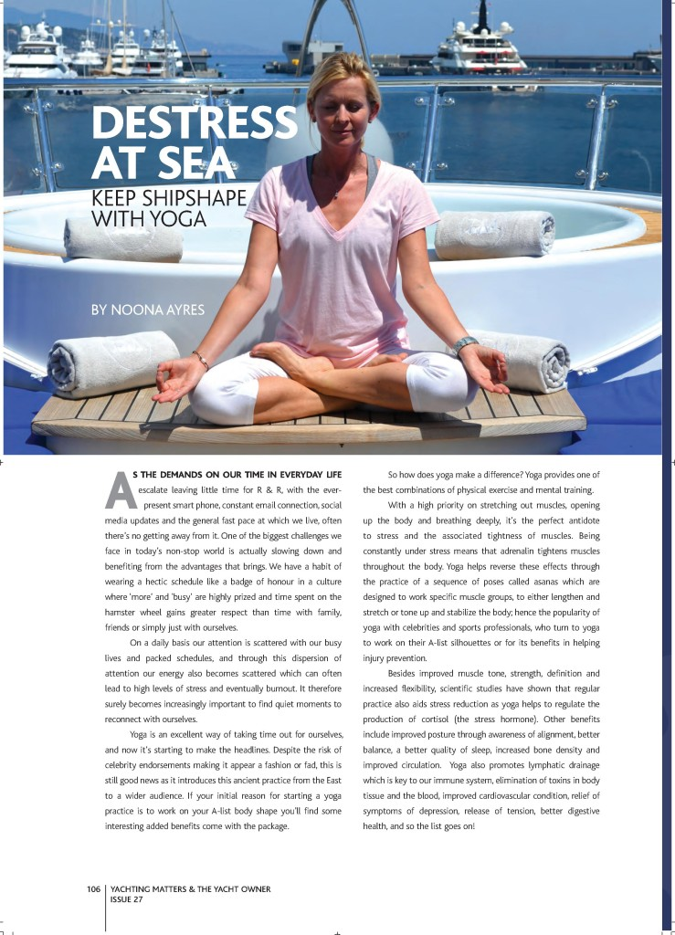 Yoga on Yachts